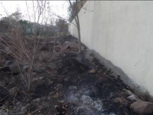 irrigation system damaged due to fire-1
